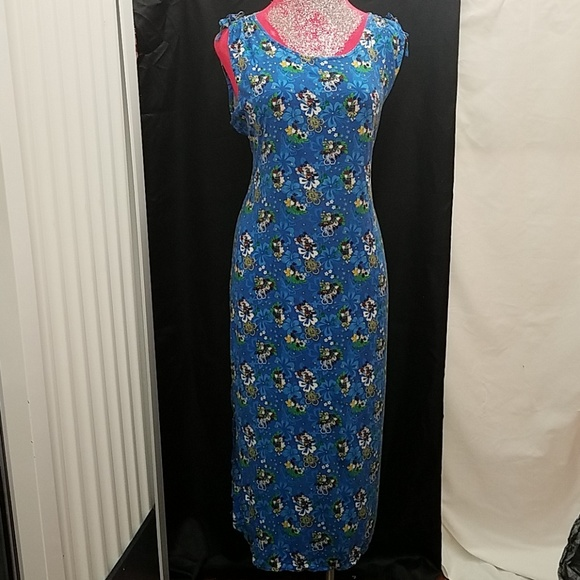 Disney Women Plus Size XXL Casual Maxi Dress